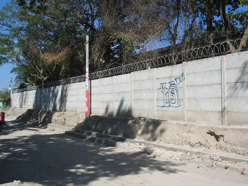 cement wall surrounding Quality factory