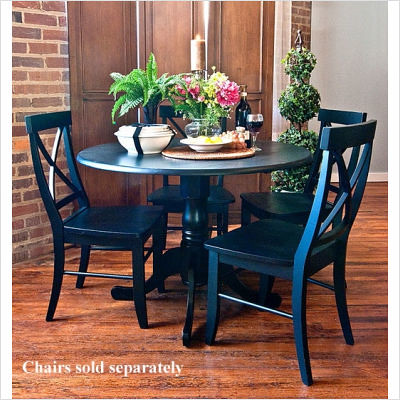 42-+Round+Drop+Leaf+Table+in+Antique+Black