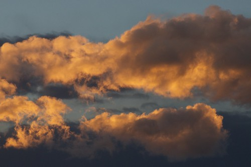Sunset Lit Clouds