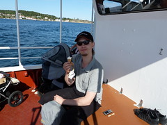 On the boat to isle of Merd (cthulhuz0r) Tags: sea summer me norway ship isle 2010 merd
