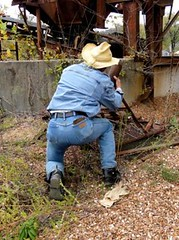 03 WS Kneeling checking old river mill parts (Wrangswet) Tags: wet clothed wranglers fully riverhike wetclothes swimmingfullyclothed wetjeans wranglerjeans guysinwetjeans wetladz wetcowboy swimminginjeans wetcowboyboots wetwranglerjeans meninwetjeans mudwallowing guysswimminginjeans swimminginboots wetwranlgers jeansswimming