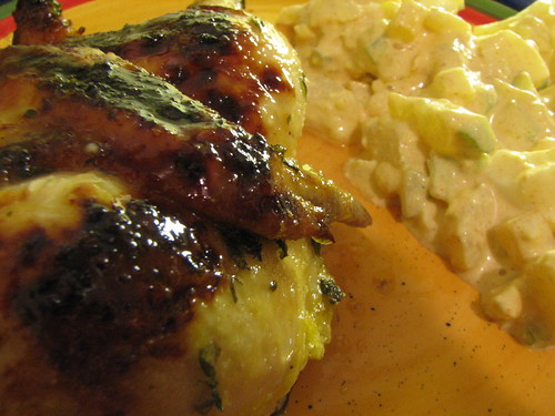 Citrus & Herb Glazed Cornish Hen w/potato salad