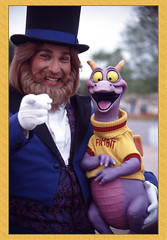 Dreamfinder and Figment (auntie rain) Tags: epcot disney disneyworld wdw waltdisneyworld figment scannedslide dreamfinder 5stardisneyaward