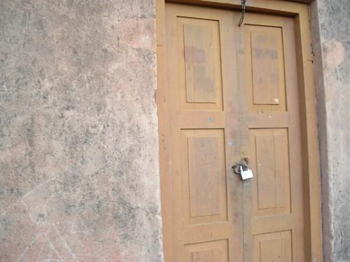 locked close door