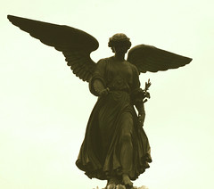 Angel (The Wandering Angel) Tags: newyork fountain beauty angel travels poetry centralpark statues bethesda