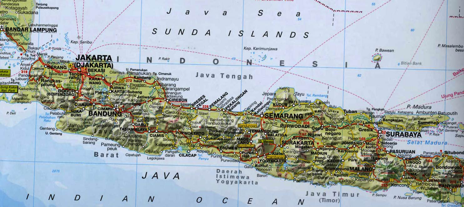 worldtravellersdk » blog archive » a sundanese wedding and a  - map of java