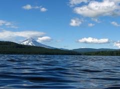 Timothy & Hood (Ben Amstutz) Tags: blue sky mountain lake snow water clouds oregon nationalforest mthood mounthood timothylake mounthoodnationalforest