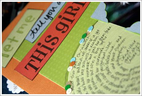 journalling and scrapbooking workshop sample: creative pastimes