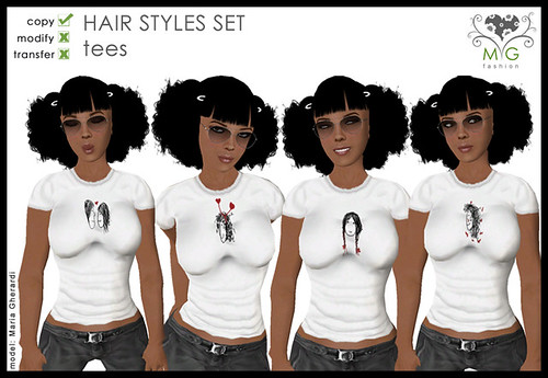 [MG fashion] Hair Styles Set - tees