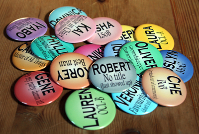 Buttons for Iyabo's wedding
