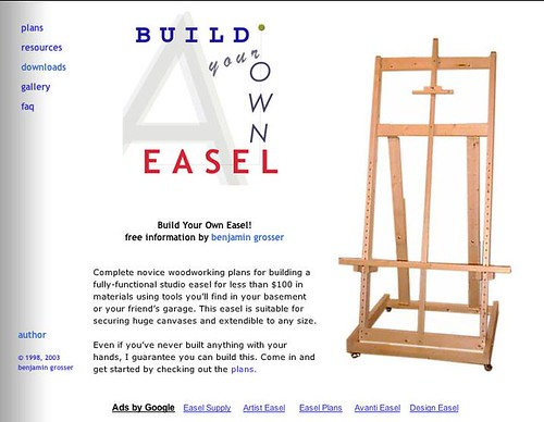 Build Your Own Easel Plans