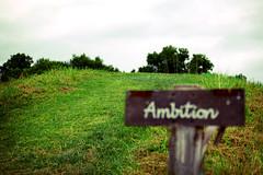 """""""Ambition[志]]""""と書かれたボード"""