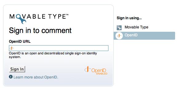 Movable Type Publishing Platform