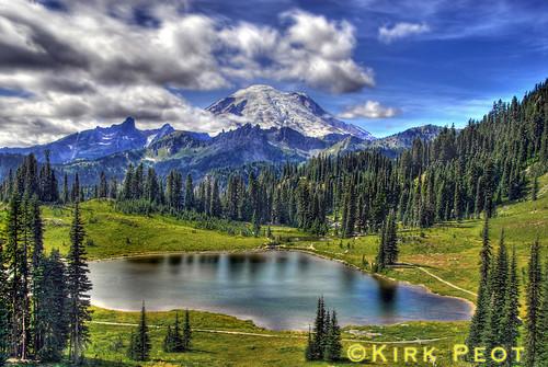 Mt. Rainier from Chinook Pass, Washington HDR Process