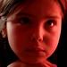 Sandra-Juliette a los ocho...  que dura es la vida....