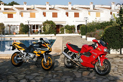 bmwduc 01 (karlis138) Tags: red rot yellow spain motorbike motorrad moraira costablanca bmwr1100s ducatist2