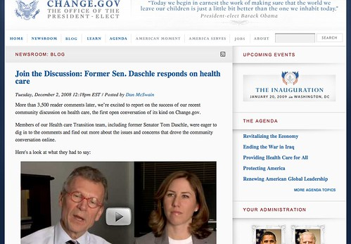 Obama Transition Team - Daschle Healthcare Reform