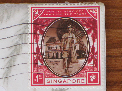 Singapore stamp: postal services through the years