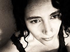 Give me a name? (Nicole Lafourcade) Tags: portrait woman beauty closeup sepia photobooth feminine sensual memorycornerportraits