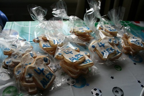 Goody Bags with T-Shirt and Number 4 cookies