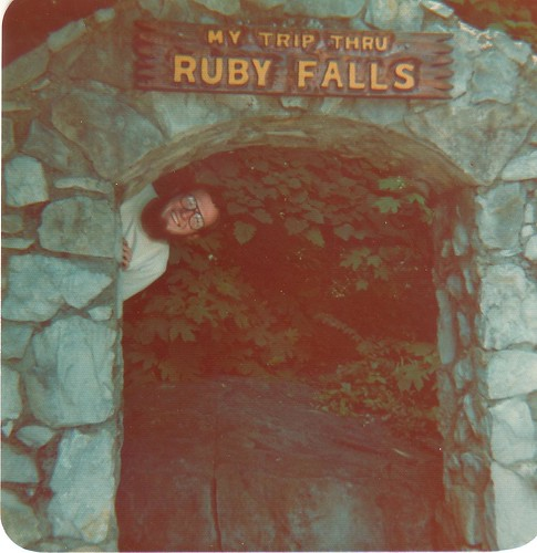 Dad at Ruby Falls