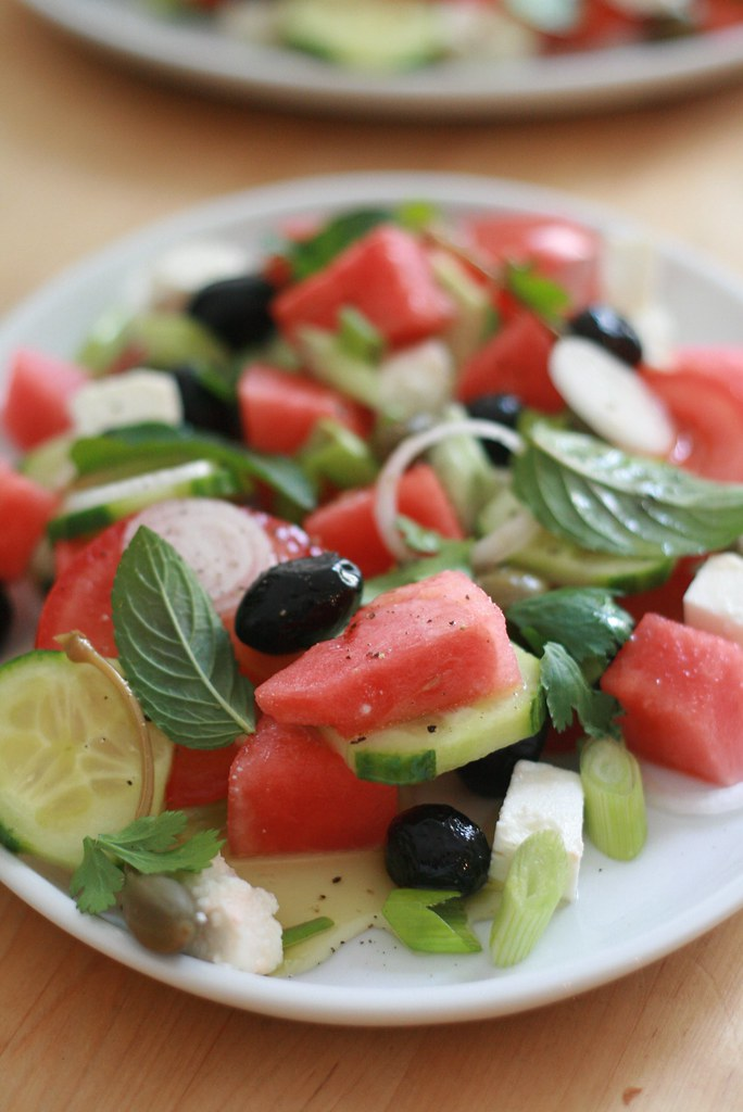 Salade pastèque, feta & olives