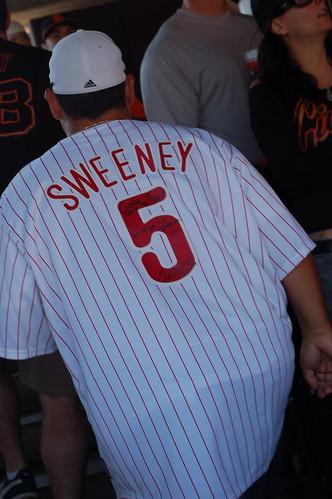 Giants v. Phillies: Sweeney Jersey