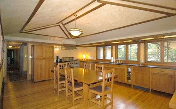 Kitchen inside Frank Lloyd Wright's Coonley House (Courtesy Baird & Warner)