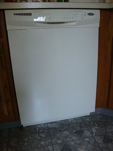 my new dishwasher:  doesn't it look like it's winking?