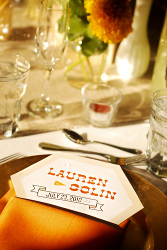 L+C wedding table setting