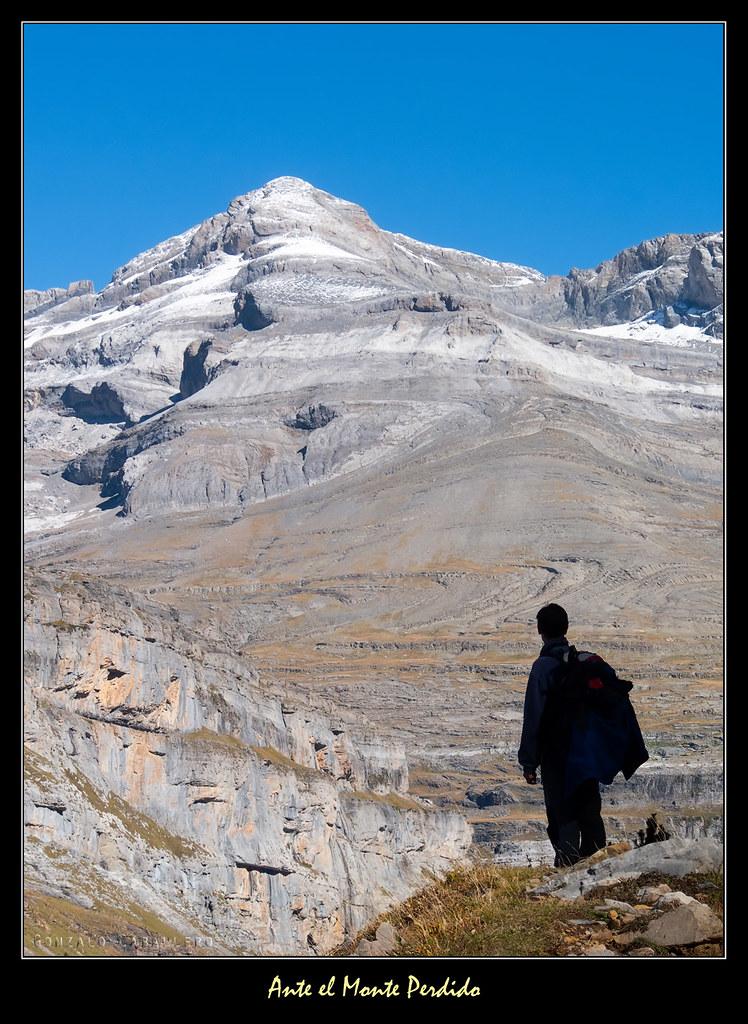 Frente al Monte Perdido