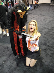 Jigsaw Killer and victim from the Saw movie series