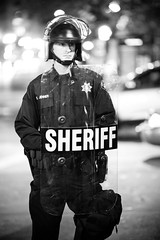 Sheriff (Thomas Hawk) Tags: california bw usa america oakland cops unitedstates unitedstatesofamerica protest police cop eastbay oscargrant johannesmehserle mehserle novatopolice mehserleverdictprotest110510 novatopd novatopolicedepartment