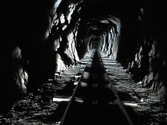 Burro Schmidt's Tunnel (Barstow Steve) Tags: roadtrip burroschmidttunnel mojaverivervalleymuseum utata:project=justblack