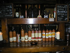 Selection of their Genevers at Der Admirall Proefkaalen on Heerengracht, Amsterdam