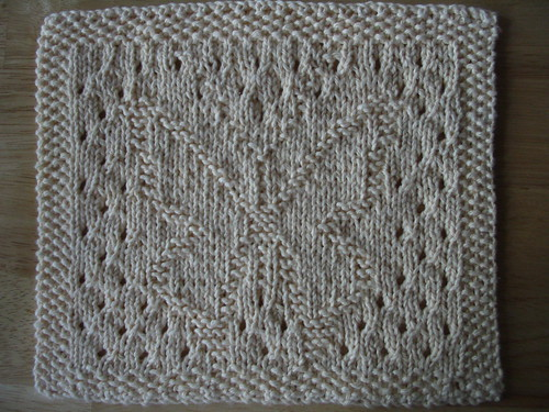 Lacy Butterfly Dishcloth