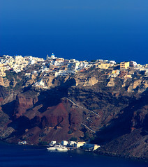 Close UP View of Oia From Our Hotel - by ehpien