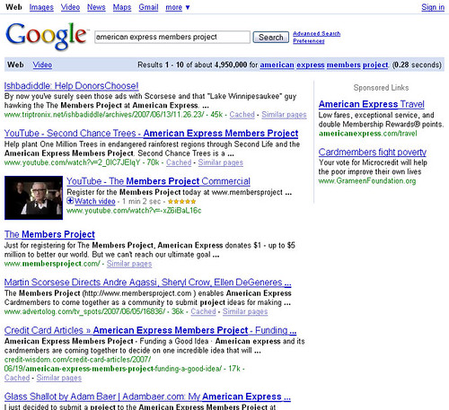 Google Search Results for 'American Express Members Project'