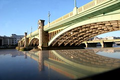 Reflecting Southwark bridge (*Firefox) Tags: reflection london thames geotagged southwarkbridge geo:lat=51508195 reflectedbridge geo:lon=0095229