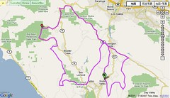 Santa Cruz Mountains Challenge - Route
