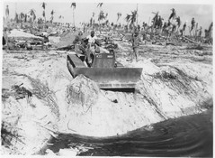 Tarawa - 2nd Engineers burying the dead (afigallo) Tags: war pacific wwii amtrak ww2 marines engineers tarawa lvt betio