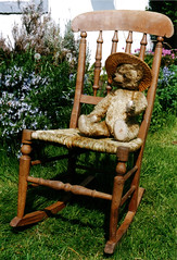 Rush rocking chair