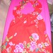 #SM4 Strawberry Halter  with Flowers. 9.00