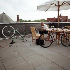 rooftop bike shop (Andy Buck) Tags: city andy bike shop speed 50mm hasselblad single jersey schwinn buck cannondale schroeder lofts symposed
