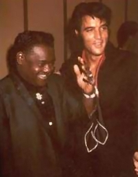 Fats Domino with Elvis Presley