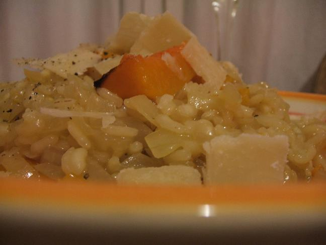 Lemon squash risotto