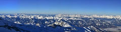 View from Kitzsteinhorn (11) (zdeto) Tags: show blue winter panorama mountains alps canon austria panoramic stitched highaltitude kaprun kitzsteinhorn 450d
