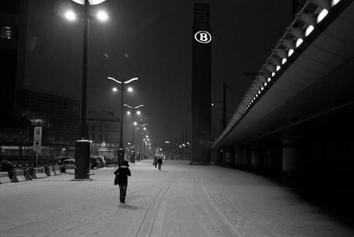 bruxelles dans la neige (4 sur 12)