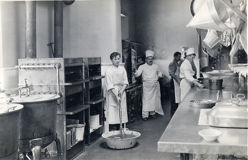 Kitchen staff in Main Building