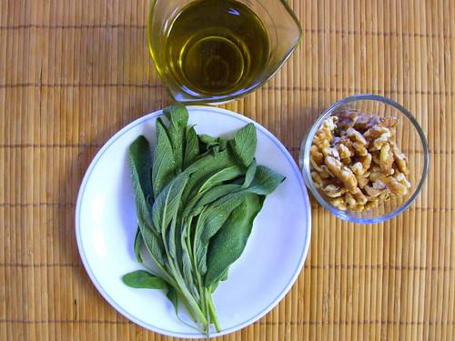 sage and walnuts